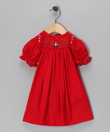 Red Candy Cane Bishop Dress - Infant & Toddler
