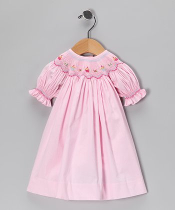 Pink Cupcake Bishop Dress - Infant & Toddler
