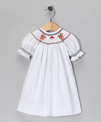 White Santa Bishop Dress - Infant & Toddler