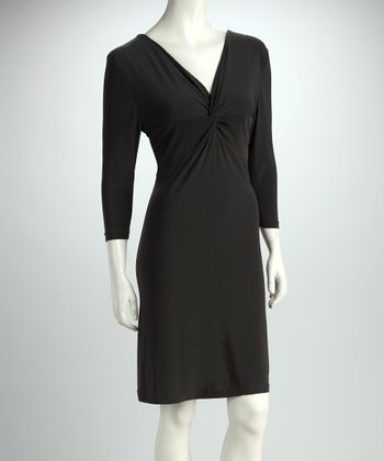 Pewter Twist-Front Dress