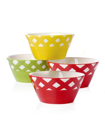 Gingham Barbecue Condiment Bowl Set