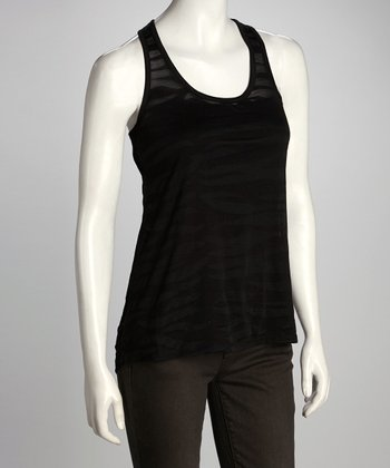 Black Sheer Racerback Tank