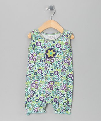 Green Groovy Sleeveless Romper - Infant
