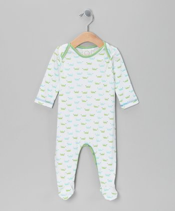 White Boat Footie - Infant