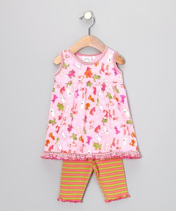 Pink Doggy Tunic & Capri Leggings - Infant & Toddler