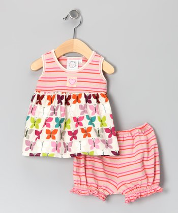 Pink Butterfly Tank & Bloomers - Infant
