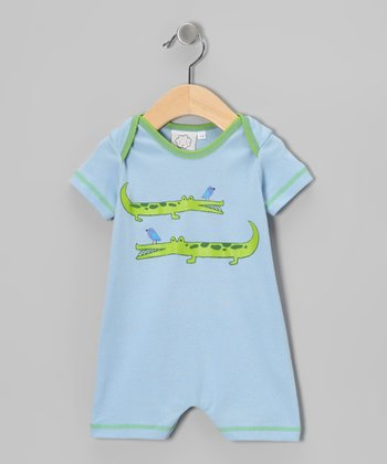 Blue Alligator Romper - Infant