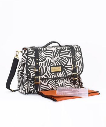 Zebra Riley Crossbody Diaper Bag