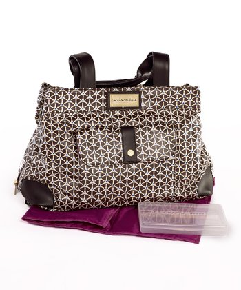 Brown Geometric Kayla Diaper Bag