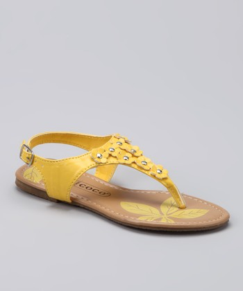 Yellow Floral Sandal