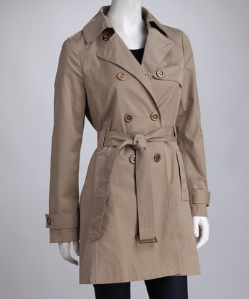 Tan Classic Belted Trench Coat