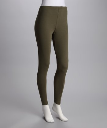 Khaki Opaque Leggings
