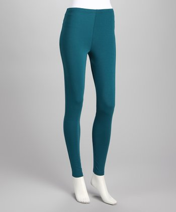 Teal Opaque Leggings
