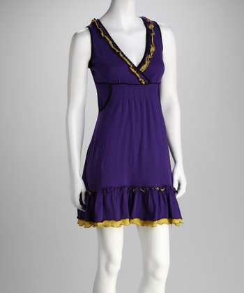 Purple Surplice Dress