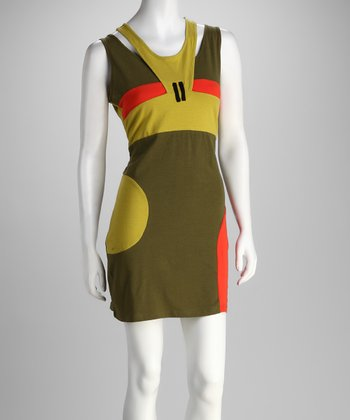 Khaki Retro Dress