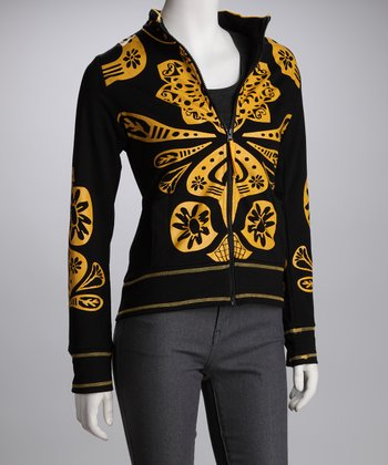 Black & Gold Graphic Jacket