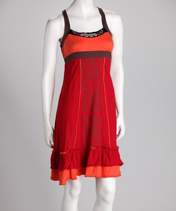 Red & Orange Sundress