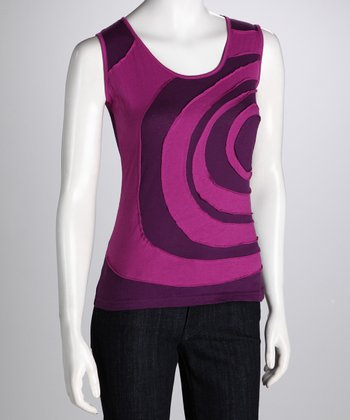 Purple Swirl Tank - Women