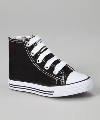 Black & White Zipper Hi-Top Sneaker