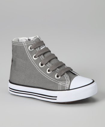 Gray Zipper Hi-Top Sneaker