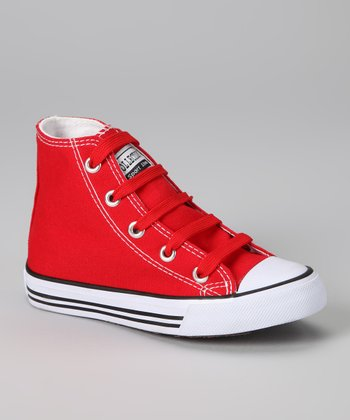 Red Hi-Top Sneaker