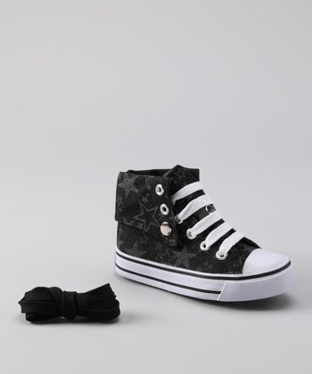 Black Star Hi-Top Sneaker