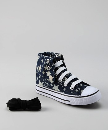 Navy Star Hi-Top Sneaker