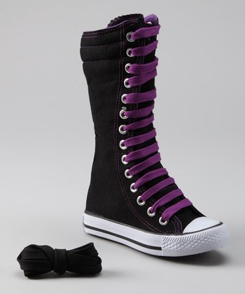 Purple Knee-High Sneaker