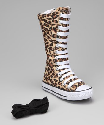 Leopard Knee-High Sneaker