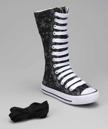 Black Star Knee-High Sneaker