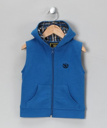 Blue Zip-Up Vest - Infant & Toddler