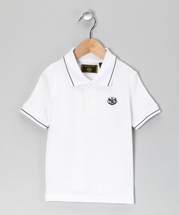 White Pique Polo - Toddler & Boys