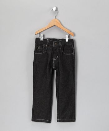 Black & White Stitch Jeans - Toddler & Boys
