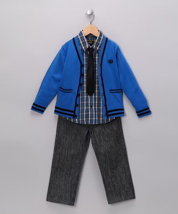 Royal Blue Cardigan Set - Toddler