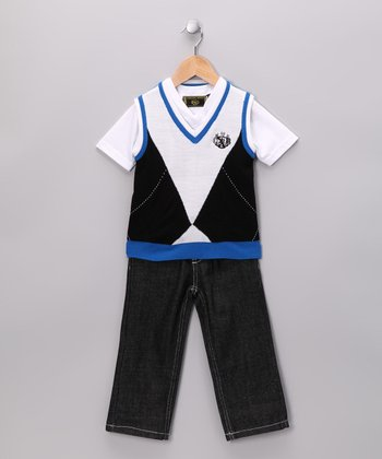 Royal Blue Jeans Set - Toddler