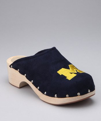 College Edition Navy Michigan Clog - Women