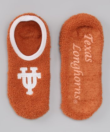 College Edition Orange 'Texas' Slipper Socks - Women