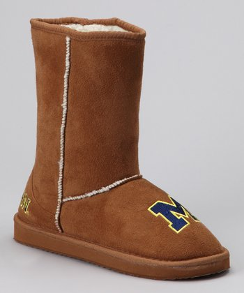 College Edition Tan Michigan Boot - Women