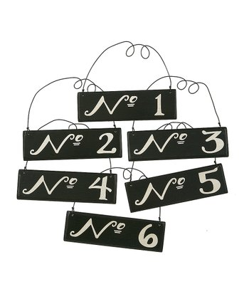 Black Number Ornament Set