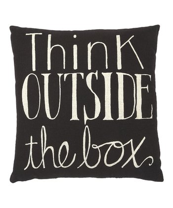 'Think Outside the Box' Pillow