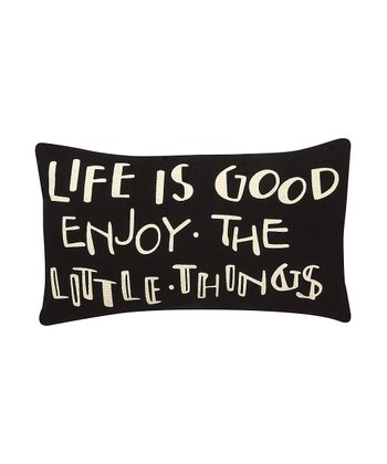 'Enjoy the Little Things' Pillow