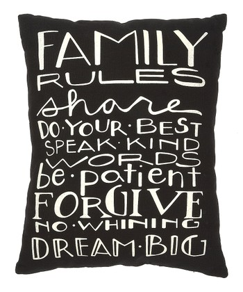 'Family Rules' Pillow