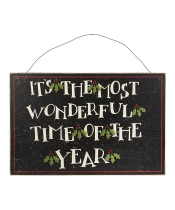 Black & Cream 'Most Wonderful Time' Wall Art