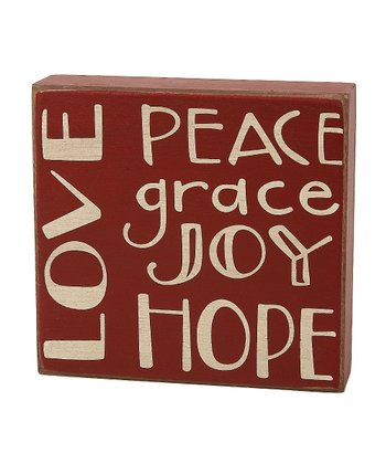 'Love Peace' Box Sign