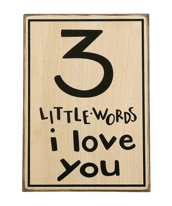 '3 Little Words' Sign
