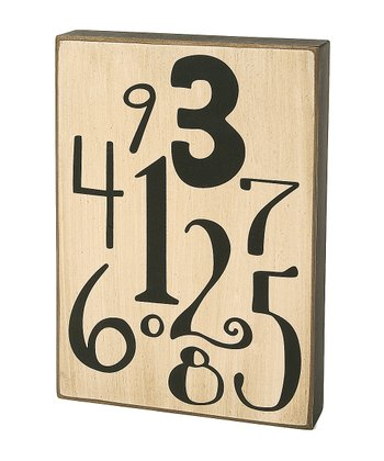 White & Black Numbers Box Sign