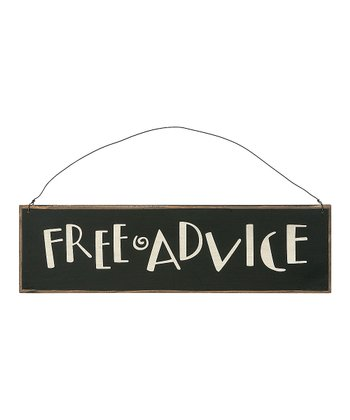 'Free Advice' Sign
