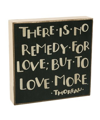 'Remedy for Love' Box Sign