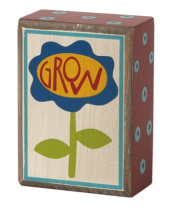 'Grow' Flower Box Sign