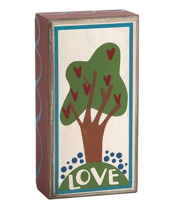 'Love' Tree Box Sign